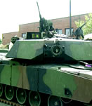 Abrams Tank coated with CARC Coatings